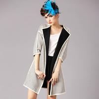 2015 new spring antumn fashion women coat asymmetric length half sleeve casual outwear jacket cardigans women clothing M L XL