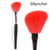Professional Large Angled Contour Brush Nature Goat Hair Blush Brush Wholesale 50pcs/lot