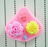 100pcs/lot 2O14 New High quality Flower silicone mold,Fondant Cake Decorating Tools,fondant molds,Silicone Cake Mold