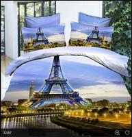Paris Eiffer Tower  - Quilt Cover Set -Queen size-4 pieces  - Great Gift Idea!