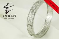 classical  enchanting  snake bracelet / woman bangle  with flower design
