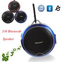 Waterproof IPX4 Speakers 316 Bluetooth Mini Speaker Sports Hook TF Card Slot Wireless Microphone for iPhone 6 S5 Air2 HTC