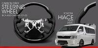 Carbon fiber steering wheel steering