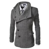 2014 Fashion Slim Men's Winter Coat Warm Wind Coat Men Windbreaker jacket coat men Color Gary  PF70