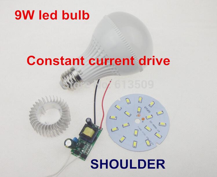 Energy saving 5 pcs/lot 9W E27 +18pcs SMD5730 LED taiwan chip LED ball bulb with free shipping price(China (Mainland))