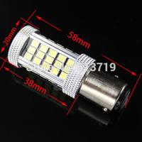 1X 1157 LED BAY15D P21/5w 63 SMD 2835 LED 12W Turning Reverse light Head Light Canbus Error Free DC 12V xenon white