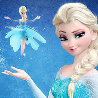 Free shipping  Induction flying frozen toys anime frozen frincess doll fheme baby boys girls toy Party kids toys