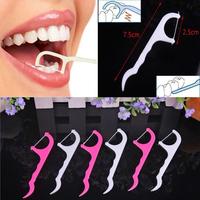 Good&Cheap 100pcs Dental Floss Interdental Brush Teeth Stick Toothpicks Floss Pick V3NF