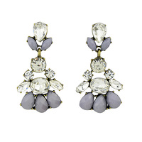 2014 New Fashion Jewelry Brincos Created Gemstone Drop Earrings  For Women Assessories