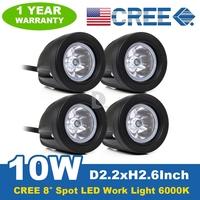 4* 10W CREE Spot Beam LED Light Bar LED Work Light Bar Offroad Driving Reverse Indicators Car Boat Truck SUV Lamp P0018471