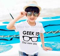 New Brand Geek Is The New T Shirt New Fashion Kids T-Shirt Print Design Boy And Girls Tshirt Cotton Children Tees