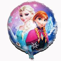 Quality Happy Birthday Decoration Frozen Balloon Princess Queen Anna Round Party Balloon frozen party decoration supplies
