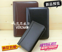 B5/A5/A6 Leather manager folder Zipper bag High-end loose-leaf Multi-function notebook Bring a calculator Business notebook book