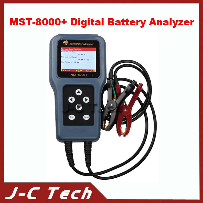 2015 MST-8000+ Digital Battery Analyzer Without Detachable Printer Battery Tester Car Battery Analyzer(China (Mainland))