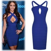 Hot Sale Cheap Summer Dress 2014 Fashion Women Spaghetti Straps Sexy Royal Blue Evening Dress Party Casual Women Plus Size Dress