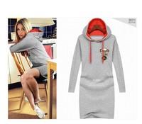 Plus Size Hoodie Dress 2014 Winter Fashion Women's Long-sleeve Dress With A Hood Casual Sweatshirts Dress Hoodies ZEX191