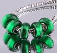 5PCS 925 sterling silver DIY thread Murano Glass Beads Charms fit Europe pandora Bracelets necklaces  /gjwapbda gxiapopa F323