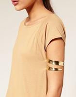 [Min. 6$] 2015 New Fashion Alloy Arm Cuff Bracelet Bangle Waistband Three Circle Rings Band Women Jewelry