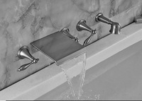 Luxury Wall Mounted Bathroom Tub Faucet Hand Shower Mixer Tap Valve Tub Faucet