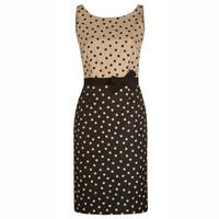 Free Shipping New Arrival 2015 Elegant V-back Dots Dress 141210WG10
