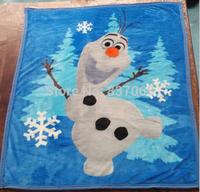 NEW Design Frozen Blankets 100*125cm baby flannel blanket cotton newborn baby blanket Frozen olaf Bedding Mat swaddle DHL FREE