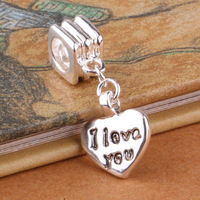 G036 925 sterling silver DIY Beads Charms fit Europe pandora Bracelets necklaces love /evfanmma gveapmla