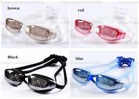 Sports male female men women's big box waterproof anti-fog swimming goggles glasses Swim Eyewear L-168