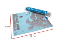 Free Shipping+DHL20 pcs/lot 2014 New Arrive The European version of the creative map scratch ,with retail Packaging