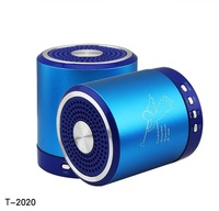 Angel Digital Mini USB Speaker T2020 TF Micro SD card speakers Music MP3 player Subwoofer FM (Factory wholesale 100pcs/lot)