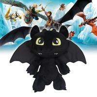 Pelucia Gragon 2 Night Fury Plush Toys How To Train Your Dragon 2 Plush Toy 30CM Toothless Dragon Stuffed Dolls Brinquedos