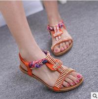 2014 summer Bohemian super comfortable elastic thick bottom drill Foreign women sandals
