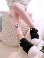 2014 NEW spring fashion Korean Children Leggings Embroidered bird girls leggings baby clothing Free shipping