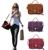 Moti 2014 Fashion Star Women's Handbag Jessica PS1Skin Scrub Briefcase Messenger Bag PU SuedeC Leather Emma Roberts Satchel G409