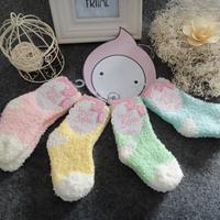 Ice cream baby socks autumn and winter baby sleeping socks floor socks thermal socks coral fleece thickening knee-high