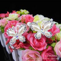 Bride wedding headdress hairpin hair hair bow shape the new marriage bob hair fork wholesale