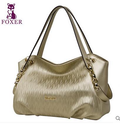 FOXER brand Luxury genuine leather handbags new fashion trend handbag ladies bag hand shoulder bag(China (Mainland))