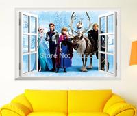 """15PCS/LOT Original Frozen wall Stickers Movie Decal Home Decor Art Kids /Nursery Cartoon 60x45cm (24""""x18"""") Frozen"""