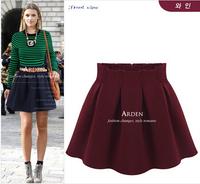 3 Color 2014 New Women Autumn And Winter Woolen Skirts Pleated High Waist Tutu Skirt