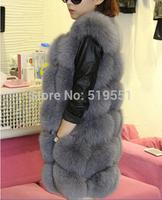 Luxury New Fashion Best Natural Fox Fur Vest Woman Genuine Fur Coat For Women's Real Furs Vests Fur Jacket Winter Warm Waistcoat