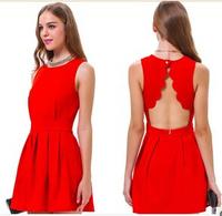 New Hot women's Backless sleeveless  sexy fashion  dress