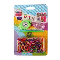 Promotion 1000sets 2014 Hot Fashion DIY Kids Kit Rubber bands Bracelet Watch Set Kids Toys Creative Free Shipping loom bands