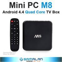 Mini PC M8 Amlogic S802 Quad Core Android TV Box 2G/8G Mali450 GPU 4K HDMI XBMC Bluetooth 2.4G/5G Dual WiFi HD Mini PC Receiver