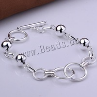Free shipping!!! Jewelry Bracelet,2014 new arrive mens, Brass, real silver plated, nickel, lead & cadmium free, 18x28mm