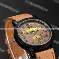 Brand New Leather Strap Band Relogio Masculino Black Alloy Case Round Dial Wrist Clock Casual Men Dress Quartz Watch / PHN007