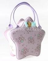 Pentagram shape lavender print handbag, sweet girls love, Lolita style, aristocratic ladies bags, New Year's gift