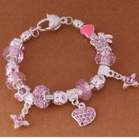 925 Sterling Silver Bracelet Snake Chain Screw European Silver Charms Beads  /ggkaoxra gtwaplda PH006