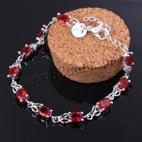 Free shipping!!! Jewelry Bracelet,Jewelry Fashion, Zinc Alloy, with 2lnch extender chain, real silver plated, with rhinestone