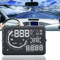 New Version ActiSafety ASH-5 iFound S5 HUD Head Up Display 5.5 Inch Fuel Consumption TPMS Optional OBD2 HUD