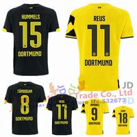 Free Shipping Thai AAA+ quality 2014 2015 Borussia Dortmund soccer jersey 14 15 SAHIN MKHITARYAN REUS Jersey 14/15 HUMMELS Shirt