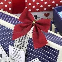 12 pcs/lot Christmas Tree Bow Decoration Baubles XMAS Party Garden Bows Ornament Drop Shipping